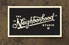 Vintage logotype via designdetox.com #bw #businesscard