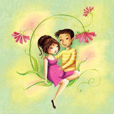 Un couple qui attend un bébé pour un livret de sage femme par Laure Phelipon