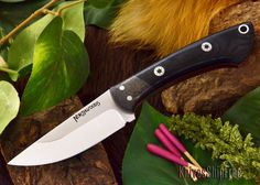 The Northwoods Knives: Iron River - Black Canvas Micarta - Red Liner - Mosaic IN STOCK at Knives Ship Free. All Northwoods Knives are backed by a strict no-questions-asked lifetime warranty.