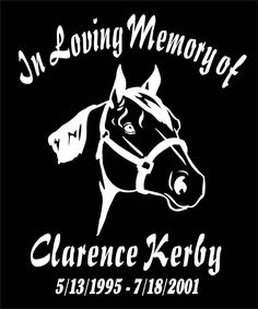 Details About In Loving Memory Of Decals Two Quarter Horse Name Date Car Window Vinyl Sticker