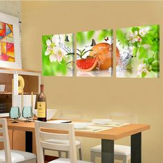Fruit Canvas Wall Picture for Kitchen Dinning Room Canvas Painting Home Decor Wall Art Canvas Oil Painting No Frame Kitchen Dinning Room, Kitchen Art, Fruit Painting, Oil Painting On Canvas, Rooms Home Decor, Home Decor Wall Art, Images Murales, Cheap Paintings, Kitchen Pictures