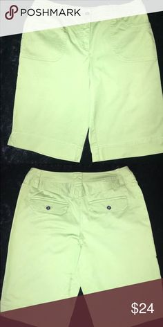 Chico's Bermuda Shorts Size 0. 98% cotton & 2% spandex. These have been washed but never worn. Chico's Shorts Bermudas