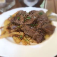 Greek Recipes, Food For Thought, Recipies, Food And Drink, Tasty, Beef, Crafts, Greece, Kitchens