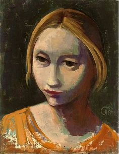 Hofer, Carl (1878-1955) - 1937 Girl's Head (Christie's London, 2006) by RasMarley, via Flickr