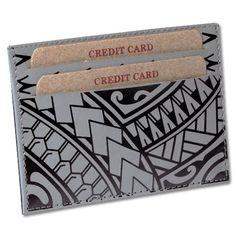 """Akamai card holder Samoan tattoo art: Hiku by Eugene """"Eugenius"""" Ta'ase Card Tattoo, Tattoo Art, Samoan Tattoo, New Beginnings, Card Holder, Tattoos, Design, Products, Maori"""