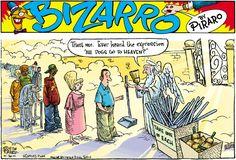 """Dogs in Heaven...     - """"Bizarro"""" by Dan Piraro;  1/28/01"""