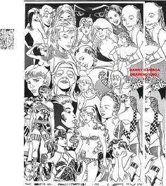 COLECCION DE DIBUJOS DEL ARTISTA PERUANO HARRY GAMBOA Dibujo numero 17 dibujo realizado en blanco y negro a tinta china en papel blanco a mano alzada ARTIST DRAWING COLLECTION PERUVIAN HARRY GAMBOA Drawing number 17 drawing done in black and white India ink on white paper freehand