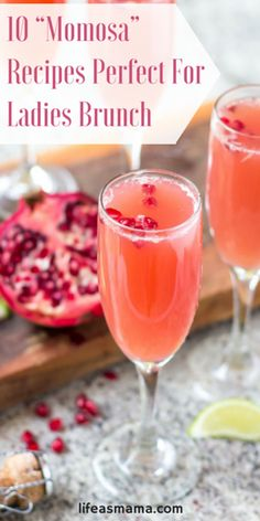 You've probably heard of a mimosa. But what about a momosa? Take a classic drink, add some domestic flair (a.k.a. different ingredients that moms love), and voila! You've got yourself a sweet little something for moms to enjoy with their friends. Here are 10 perfect recipes.