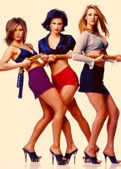 Jennifer Aniston, Courteney Cox, and Lisa Kudrow US Weekly magazine cover shoot - Febuary 1996 ❤️