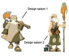 Comparaison de design de Ruel Stroud entre la saison 1 et 2 de Wakfu