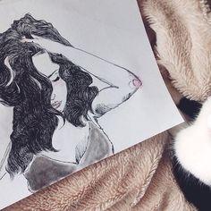 N o s t a l g i a  #drawing #art #artist #artoftheday #illustration #inkwork #watercolor @_sentimentalheart
