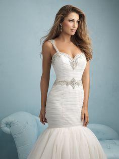 New Mermaid Wedding Dress White/Ivory Bridal Ball Gown Custom Size 4/6/8/10/12++ #9214