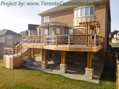 A charming addition to the upper level of the house. #Deck design #custom deck #interlocking #patio #Toronto