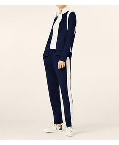 Tory Navy/snow White Tory Sport Color-block Track Jacket