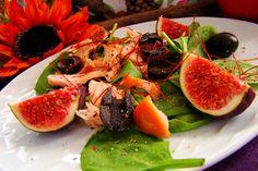 Sałatka z szpinaku łososia i fig