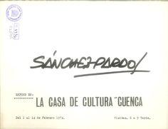 Exposición de Sánchez-Pardo en la Casa de Cultura de Cuenca Febrero 1974