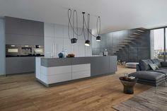 Cuisine Classic-FS, coloris Gris Le Corbusier, Leicht.