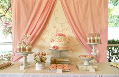 Baby shower themes for gils pearls dessert tables 62 Ideas Tea Party Baby Shower, Baby Shower Themes, Bridal Shower, Shower Ideas, Pearl Baby Shower, Girl Shower, Parisian Baby Showers, Gold Wedding Theme, Wedding Ideas