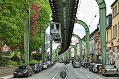 The World's Oldest Monorail In Germany | Railway, Suspension, Monorail, City, Suspended