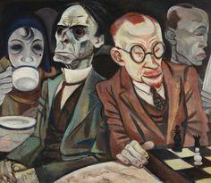 Jeanne Mammen (1890-1976) Scacchista/Chess Player, 1929 – 1930 olio su tela/oil on canvas, cm 70 x 80,5 Berlinische Galerie, Landesmuseum für Moderne Kunst, Fotografie und Architektur, Berlin © Jeanne Mammen, by SIAE 2015.