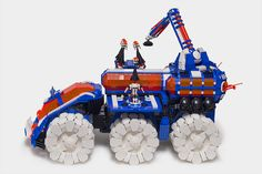 I was inspired by the Mega Core Magnetizer, and wanted to rebuild it much larger and in Ice Planet colors. Lego Structures, Planet Colors, Big Lego, Lego Army, Lego Construction, Lego Worlds, Lego Design, Lego Models, Lego House