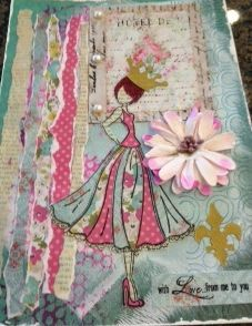 Doll Stamp from Julie Nutting Collection: Collage Couture