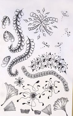Zentangle art- Altered and repurposed tangles