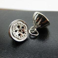 925 Sterling Silver Lotus Seed Pod Charm Pendants DIY Findings LFJ54