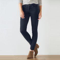 Women's SONOMA Goods for Life™ Corduroy Skinny Pants, Size: 18 Avg/Reg, Blue (Navy)