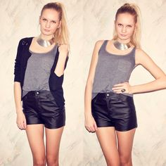 to style my high waisted leather shorts
