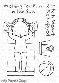 My Favorite Things - FUN IN THE SUN - Stamp Set - Hallmark Scrapbook - 1
