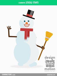 CHAR041_Snowman. Part of D&M Character Kit.
