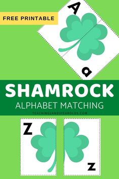 Looking for a fun way to work on alphabet skills during St. Patrick's Day? This Shamrock alphabet activity includes free printable cards that challenge preschoolers to match the uppercase letter to the lowercase letter. #stpatricksday #shamrocks #alphabet #literacy #printable #activity #preschool #3yearolds #4yearolds #5yearolds #teaching2and3yearolds St Patrick Day Activities, Pre K Activities, Alphabet Activities, Preschool Alphabet, Preschool Lesson Plans, Free Preschool, Preschool Classroom, Teaching The Alphabet, Learning Letters