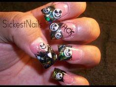 Jack Nightmare Before Christmas Halloween Acrylic Nails