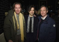 Wes Anderson joins Noah Baumbach and Ben Stiller at movie premiere Noah Baumbach, Spike Jonze, While We're Young, Ben Stiller, Wes Anderson, Cinema, Husband, Movies, Inspiring People