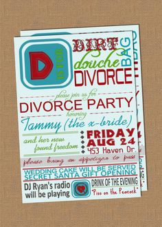 Divorce Party Invitation #trashthedress