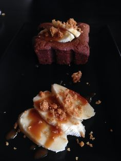 #dessert #brownies #chocolate #banana #caramel #athens #greece