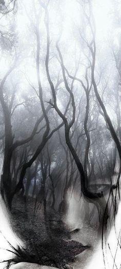 Forest girl by T.Amrein *** #DoubleExposure, @TaniaAmrein