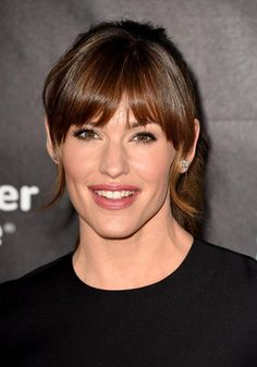 The Most Lust-Worthy Celebrity Bangs Hairstyles ForFall   Beauty High - Jennifer Garner is certainly not having a terrible, horrible, no good, very bad hair day. The blunt bangs look fabulous on the gorgeous actress, especially when paired with a loose, wavy ponytail. Read more: http://beautyhigh.com/celebrities-with-bangs/#ixzz3GLM5U3w5