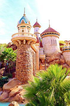 Ariel and Eric's Castle in the Magic Kingdom, FL