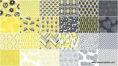 Pastel Pop - Citron Gray Charm Pack - Michael Miller Fabrics - Michael Miller