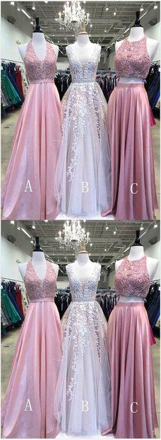 Cute spring A-line long prom dress, long colorful customize evening dress #prom #dress #promdress #promdresses