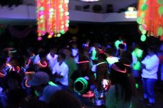 Glow in the Dark Party - great idea for a teen party.