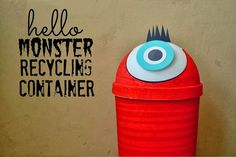 You and your kids can create a DIY Monster Recycle Bin together and then use it to recycle household items. This is a great craft project that can help teach kids the importance of recycling.