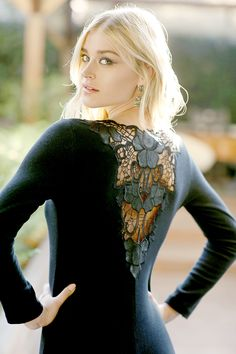 #valery #FW #black #lace #flower #blond #model #luxury #glamouros #madeinitaly