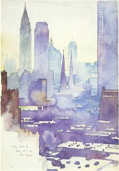 Manhattan Skyline (1936)---John Held, Jr.