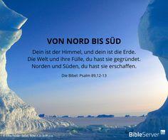 Gott hat von Nord bis Süd alles geschaffen | Lies dir den Bibelvers auf #BibleServer nochmal durch | Psalm 89,12-13