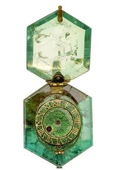 Cheapside Hoard.  Emerald Watch.  Just amazing.  Emerald had to be cut by master and was at least 150 Carats before being worked on!