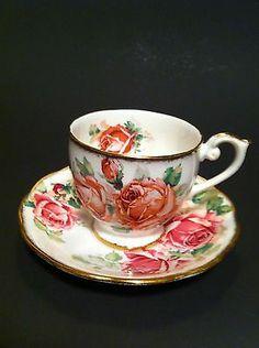 LADY MARGARET ~ QUEEN ANNE ~ VINTAGE FINE BONE CHINA ~ CUP & SAUCER