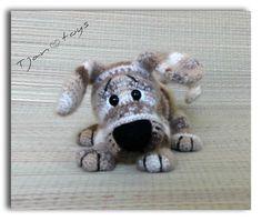 Puppy OOAK Little Dog Stuffed Animals Crochet Handmade от Tjan, $55.00